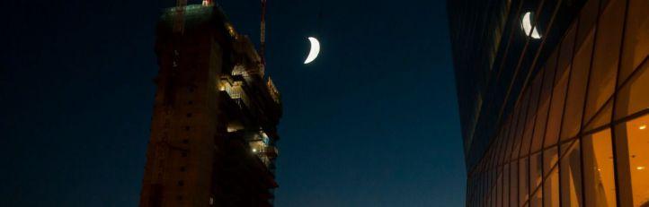 La Torre Caleido baja la Luna a la ciudad de Madrid