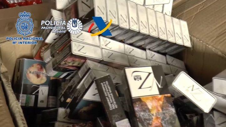 La Policía Nacional, la Agencia Tributaria y la Policía Municipal de Madrid han desarticulado en una operación conjunta una organización criminal internacional dedicada al contrabando de tabaco y al blanqueo de capitales