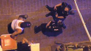 Presencia policial en Bellas Vistas