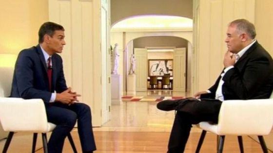 Pedro Sánchez, entrevistado por Antonio Ferreras