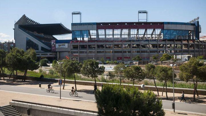 El estado del Vicente Calderón a mediados de junio tras cuatro meses del inicio de su demolición.