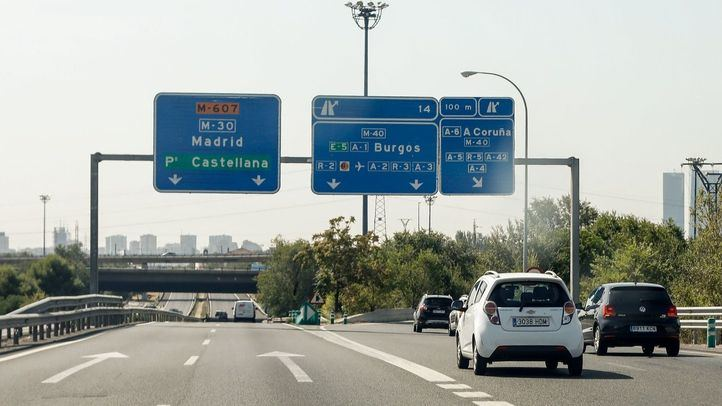 Carretera M607 a la altura del enlace con la M40.