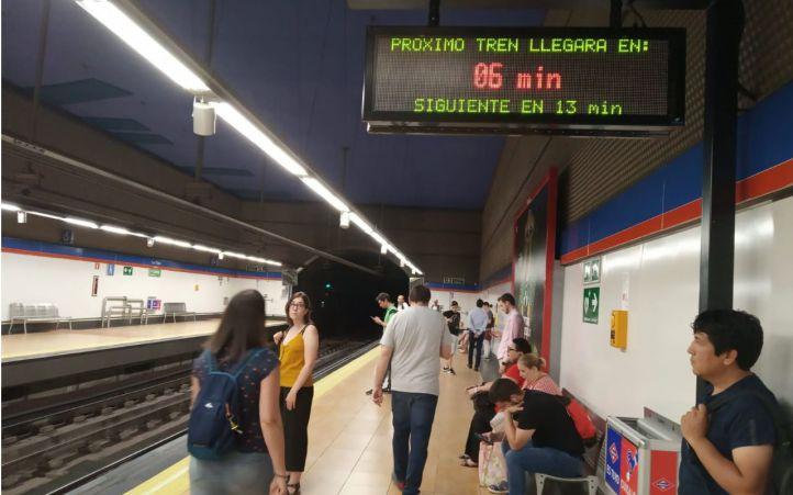 Desfases de hasta 87 trenes menos de los previstos en franjas en Metro