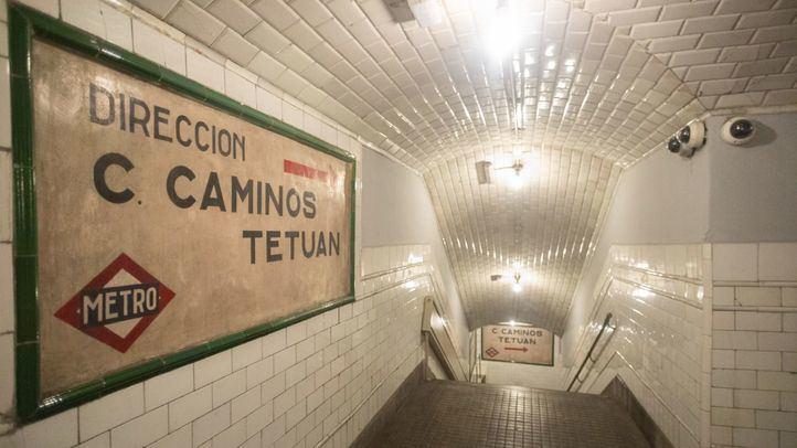 Estación de metro de Chamberí, actualmente abandonada para usos de Metro pero visitable como museo.