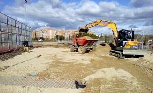 Parque Infanta Catalina Micaela de Sanchinarro durante su remodelación.
