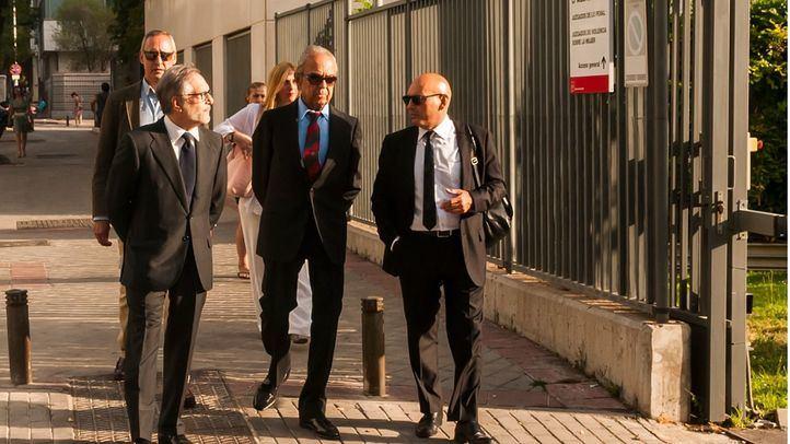 El banquero Jaime Botín, a su llegada a los juzgados donde se procesa su supuesto de delito de contrabando por intentar sacar de España un Picasso.