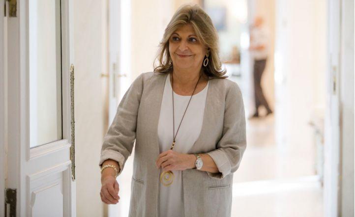Engracia Hidalgo, consejera de Economía y Empleo, asiste a la reunión del consejo de gobierno de la Comunidad de Madrid.