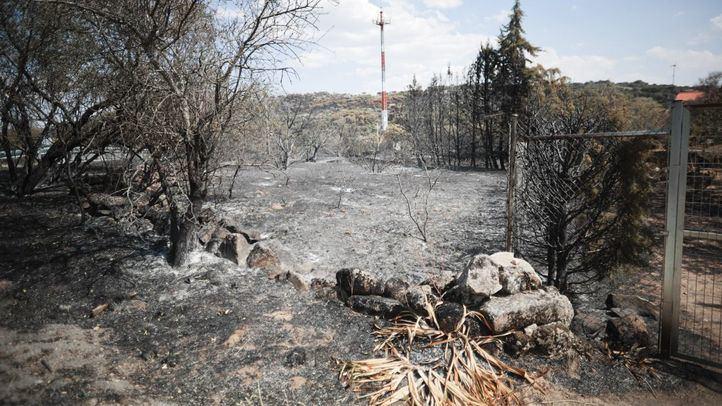 Comienza la recuperación tras el incendio de Cadalso