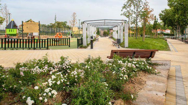 Pozuelo estrena un parque con más de 3.500 m2, área infantil y un arroyo artificial