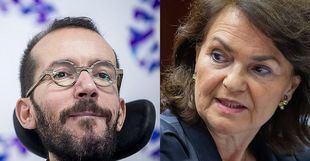 El representante de Podemos acusa a los socialistas de trastocar sus propuestas y recibir ofertas decorativas y la vicepresidenta considera que los morados pretendían un gobierno paralelo dentro del Gobierno
