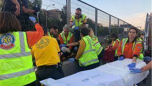 Un hombre fue atropellado a la altura del Puente de Vallecas tras cruzar indebidamente la M-30.