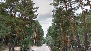 Carretera M-604, donde ha tenido lugar el accidente.