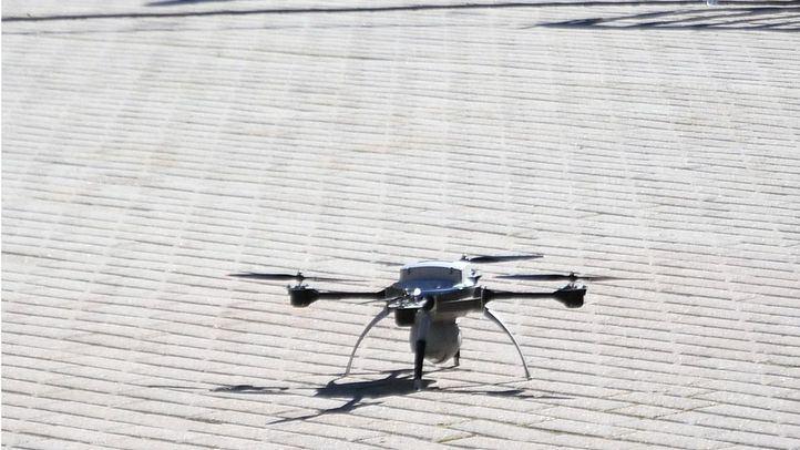 El 'método antidron' que la Policía prueba en el cielo de Madrid