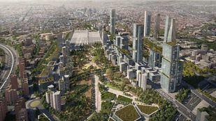 Recreación virtual de Madrid Nuevo Norte.