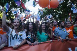 Dirigentes de Ciudadanos, en la manifestación del Orgullo 2019.