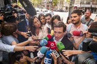 El alcalde José Luis Martínez-Almeida, a su llegada a la Junta Directiva del PP de este martes.