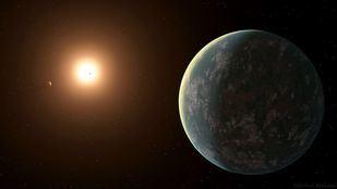 Reproducción del sistema planetario de GJ 357.