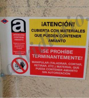 Más amianto en los pasillos de la línea 10 de Tribunal