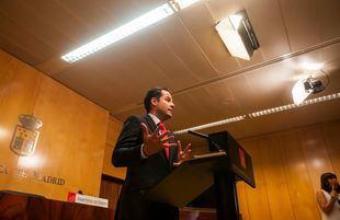 Ignacio Aguado ha comparecido ante los medios para anunciar que acepta el documento firmado entre PP y Vox porque no es incompatible con el que Ciudadanos firmó, antes, con los populares