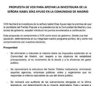 DOCUMENTO l El acuerdo que ha desbloqueado el futuro Gobierno de Madrid