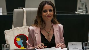 Andrea Levy, delegada del área de Cultura, Turismo y Deporte, en el Pleno del Ayuntamiento de Madrid.