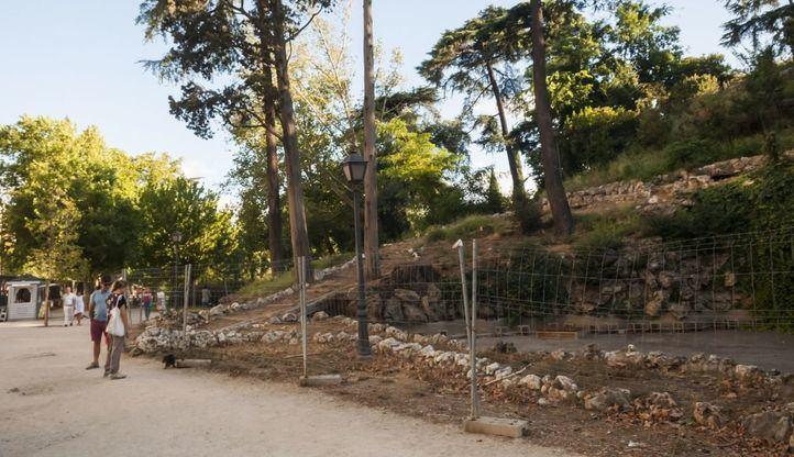 La Montaña de los Gatos del Retiro, cerrada desde hace más de una década.