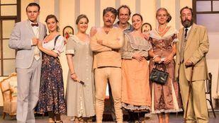 Reparto de La venganza de la Petra, en el Teatro Amaya.
