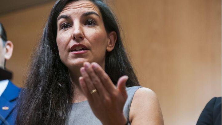 Rocío Monasterio, durante la rueda de prensa en la que anunció su apoyo a investidura de Ayuso