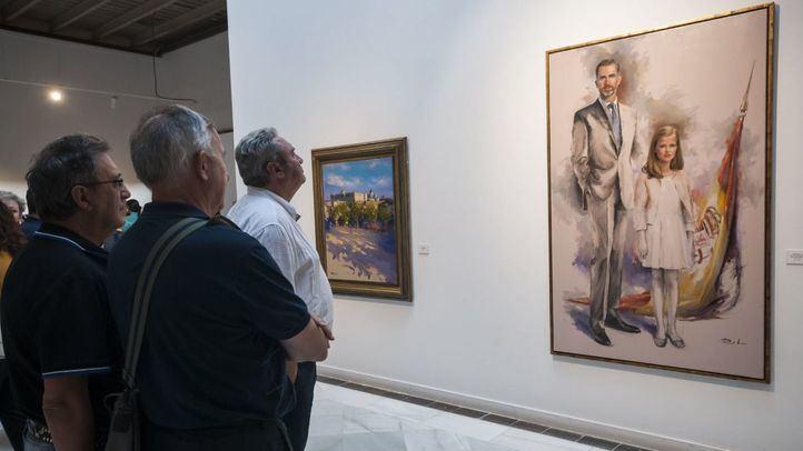 El pintor Ricardo Sanz expone su obra en la Casa de Vacas en el Parque del Retiro.