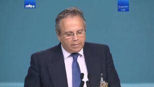 Antonio Miguel Carmona, durante su discurso en la Convención Ahmadía de los musulmanes de Pakistán.
