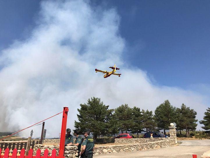 El incendio en el Puerto de la Morcuera ya se encuentra estabilizado