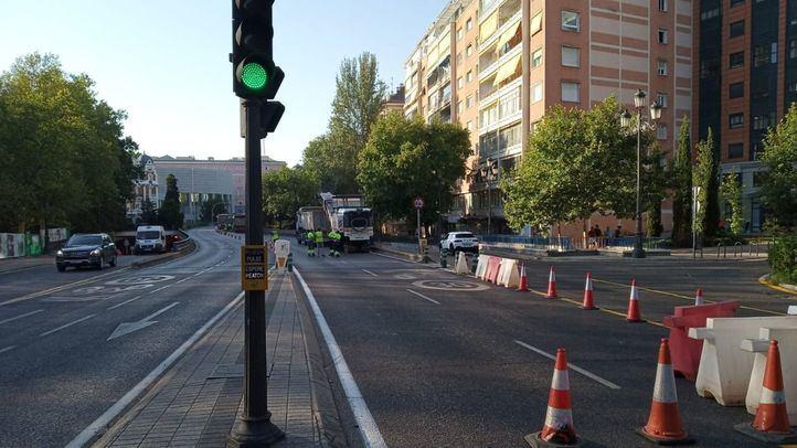 Cierre del túnel de Bailén por las obras en Plaza de España