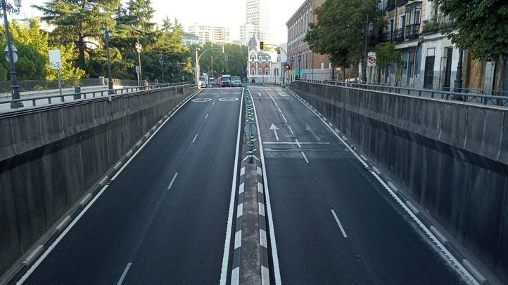 El túnel de Bailén permanecerá un año cerrado por las obras de Plaza de España.