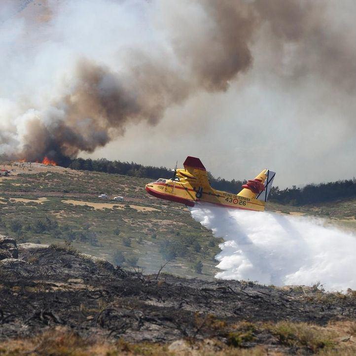 Estabilizado por completo el incendio de Rascafría