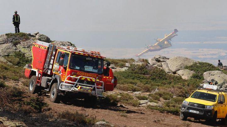 Incendio en Rascafría.