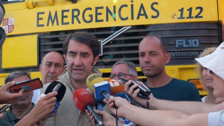 El consejero de Fomento y Medio Ambiente de la Junta de Castilla y León, Juan Carlos Suárez Quiñones, comparece ante los medios de comunicación.