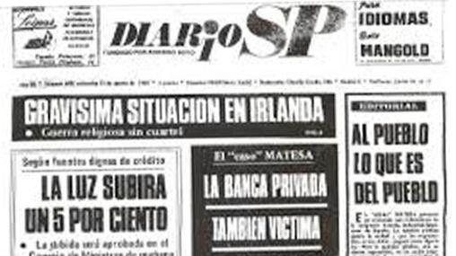Portada del diario 'SP', en el que se menciona el caso Matesa.