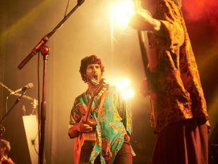 El cantautor Pedro Pastor, en uno de sus conciertos.