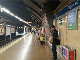 Más amianto en los andenes de la línea 6 en Argüelles