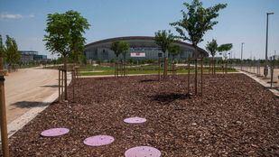 Las nuevas zonas verdes del entorno del Wanda Metropolitano abrieron al público el pasado 5 de agosto.