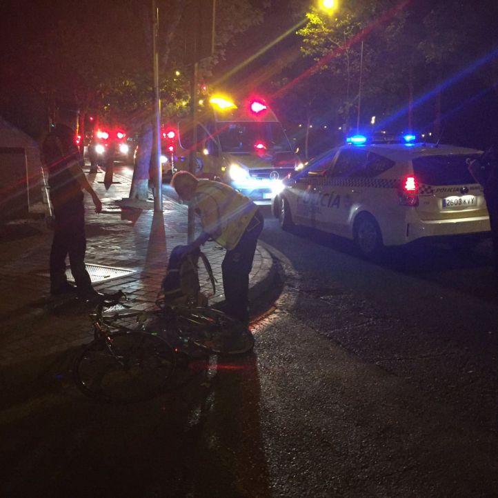 Herido un ciclista tras chocar con un turismo en Moratalaz