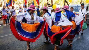 Los ecuatorianos afincados en Madrid han celebrado este sábado el Día de Ecuador.