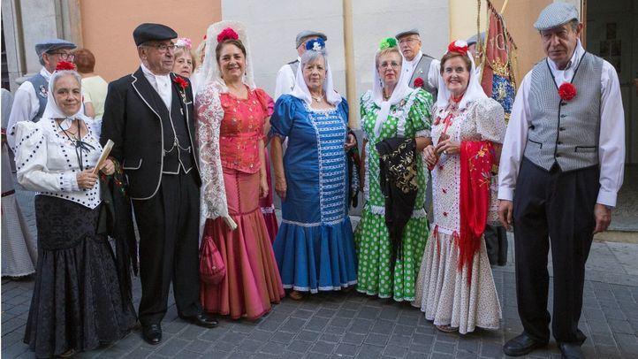 Chulapos en la procesión de San Lorenzo.