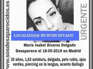 Localizada en buen estado la mujer madrileña desaparecida desde el 16 de mayo