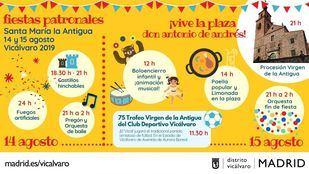 Programa de las fiestas de Vicálvaro 2019.