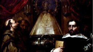 Santo Domingo y san Francisco ante la Virgen de Atocha, de Andrés Smidt