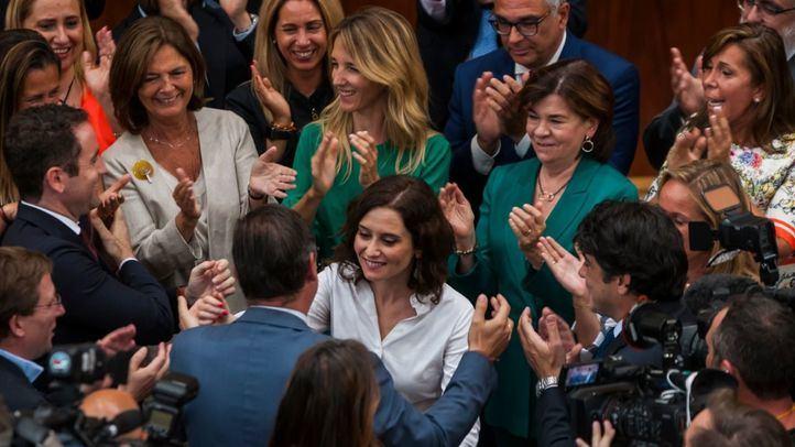 Isabel Díaz Ayuso, investida presidenta de la Comunidad de Madrid.