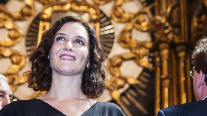 Isabel Díaz Ayuso, en el templo de la Paloma.