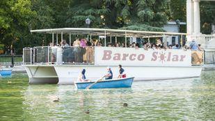 Barcas en el estanque de El Retiro.
