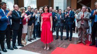 Isabel Díaz Ayuso, en su llegada a su toma de posesión como presidenta de la Comunidad de Madrid.